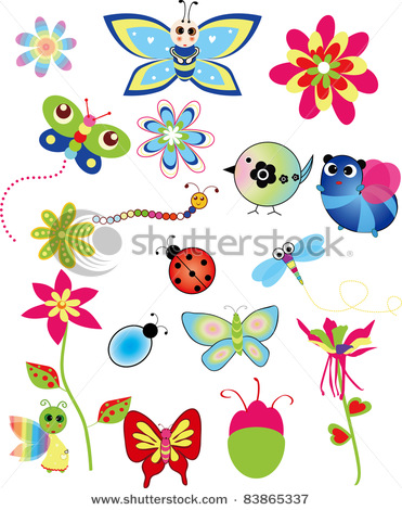 ����� stock-vector-colorful-set-of-spring-illustrations-83865337 (371x470, 90Kb)