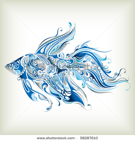 stock-vector-abstract-tropical-fish-58287610 (450x470, 84Kb)