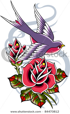stock-vector-bird-with-rose-flower-84470812 (288x470, 67Kb)