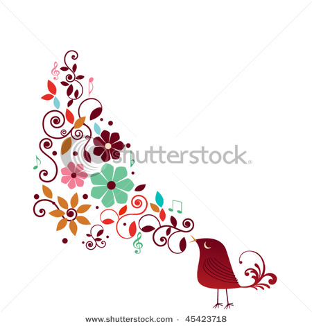 stock-vector-singing-stylized-bird-45423718 (450x470, 48Kb)