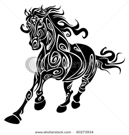 stock-vector-tribal-horse-60273934 (450x470, 46Kb)