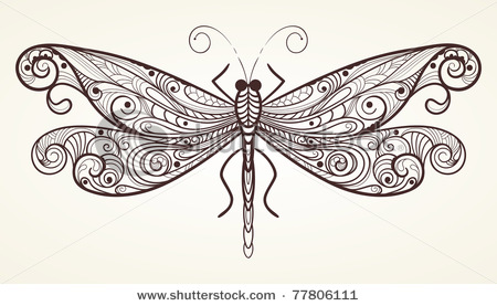 stock-vector-vector-monochrome-dragonfly-with-unique-pattern-77806111 (450x277, 48Kb)