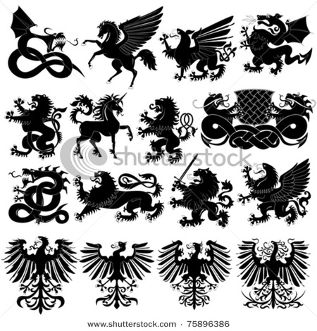 stock-vector-vector-set-of-heraldic-animals-75896386 (450x470, 88Kb)