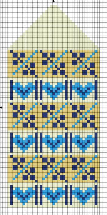 Вязание рукавиц рисунки схемы