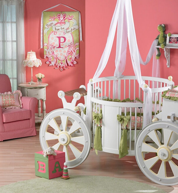 Интерьер детской девочки комната в