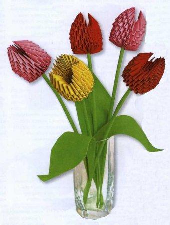 Модульное оригами: Тюльпаны