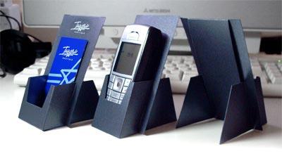 Подставка из бумаги для телефона своими руками
