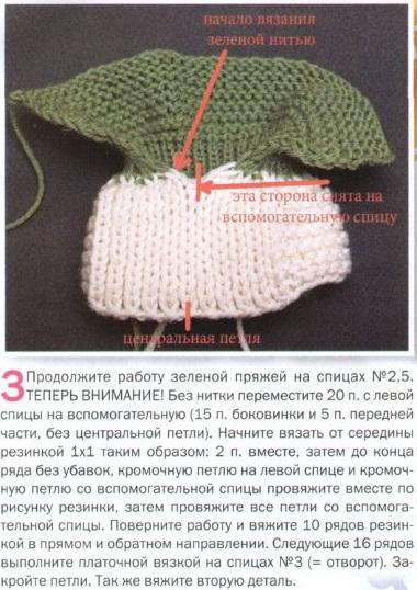 Вязание спицами пинетки для начинающих