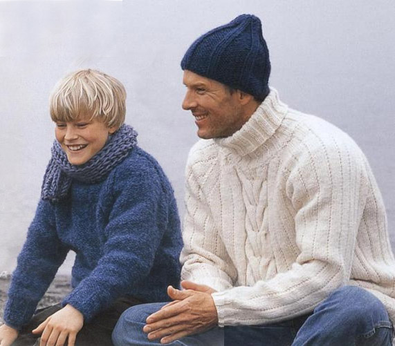Кофты мужские вязанные спицами