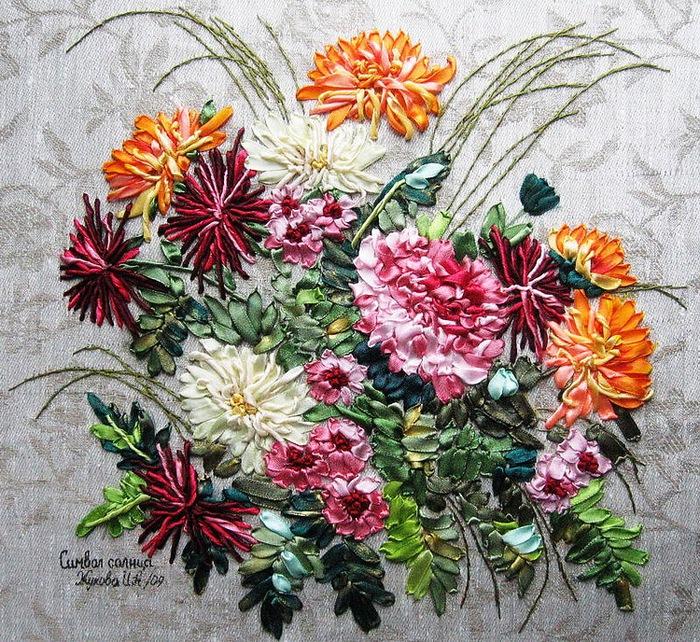 Вышивки цветов схемы скачать