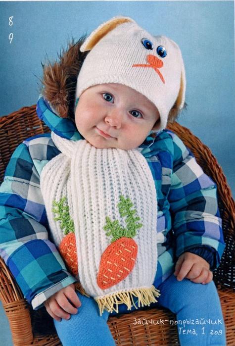 Вязание спицами детских шарфов 1