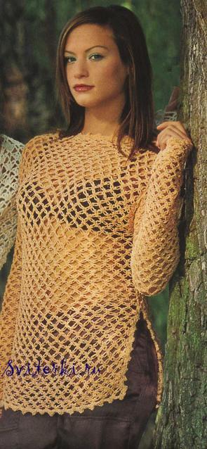 Пуловер Сеточкой