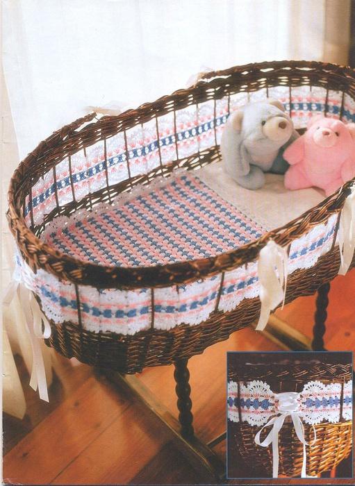 Вязание для детской кроватки