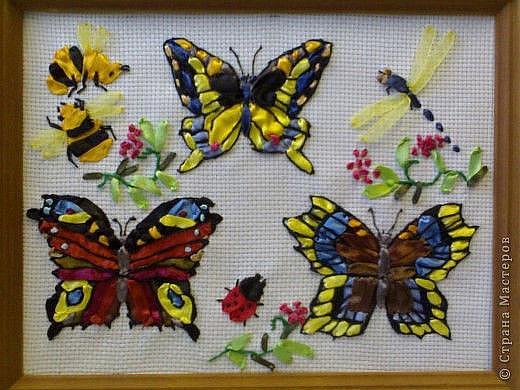 Gallery.ru / Фото #23 - Вышивка лентами - Бабочки из лент - pskov-sveta