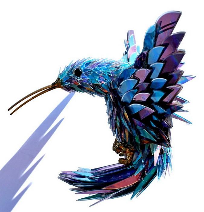 Птица своими руками из дисков