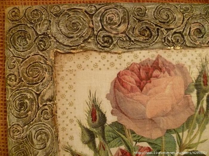 панно винтажное роза (1) (700x525, 334Kb)