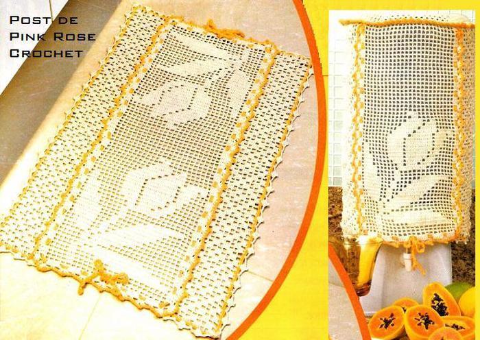 Jogo de Cozinha Tulipa Croche File --PRoseCrochet (700x496, 93Kb)