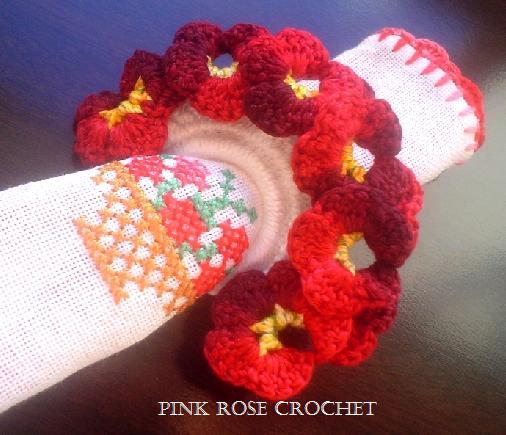 Prendedor de Guardanapos . Croche - PRose Crochet. (506x435, 40Kb)
