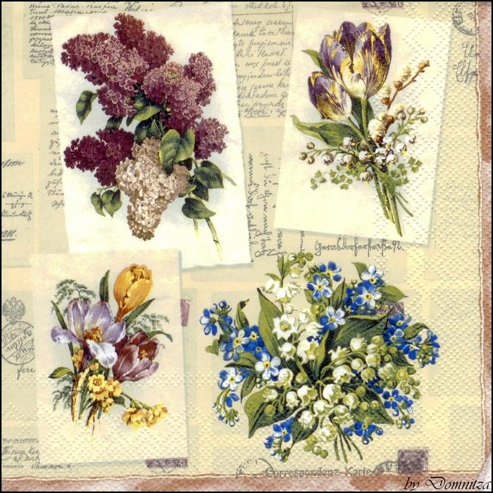 Ретро картинки для декупажа цветы 6