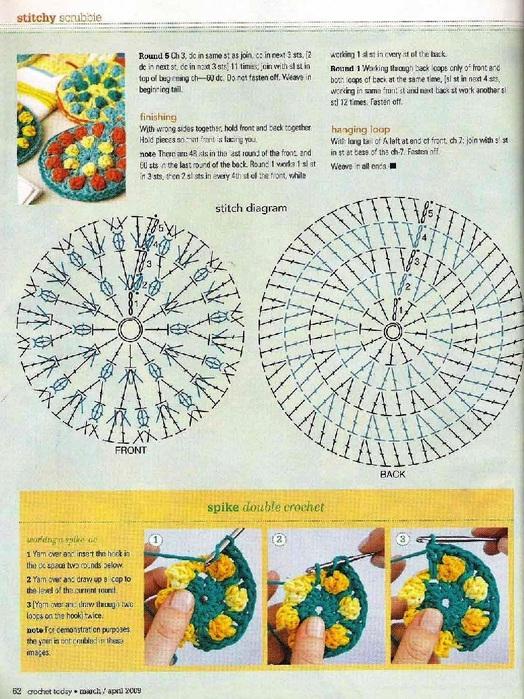 Схемы узоров на мочалках