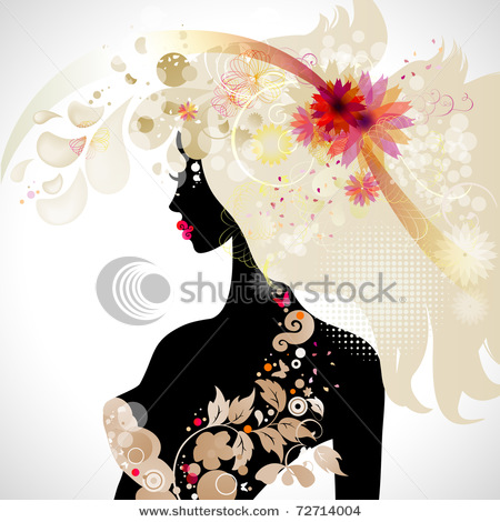 stock-vector-abstract-decorative-composition-with-girl-72714004 (450x470, 79Kb)