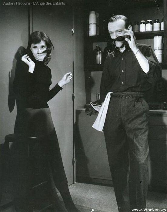 Фред Астер и Одри Хепберн (551x700, 49Kb)