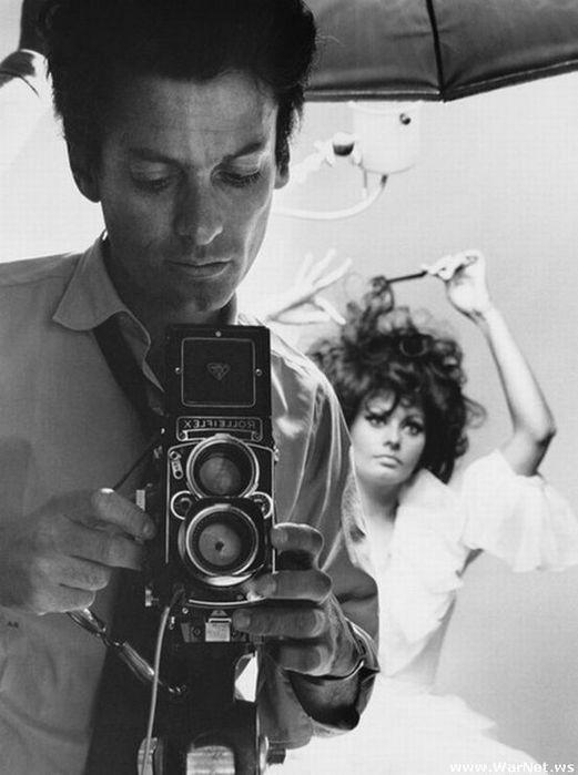 фотограф Ричард Аведон и его модель Софи Лорен, 1966 (521x700, 43Kb)
