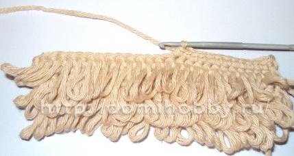 Вязание узор мех