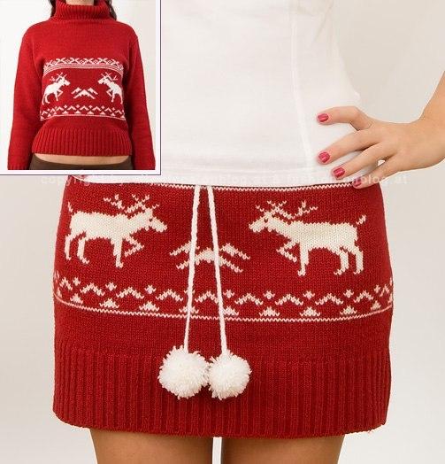 Как сшить из свитера юбку