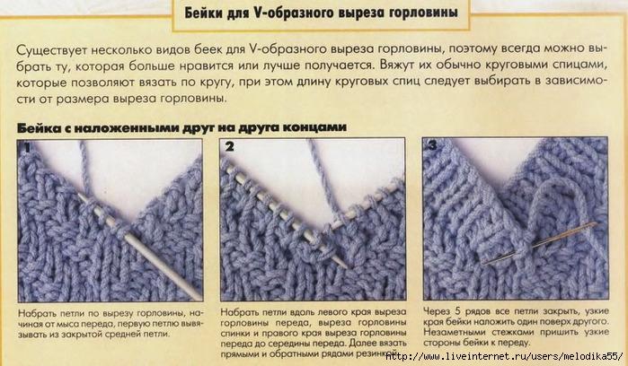 Вязание на спицах обработка горловины 55