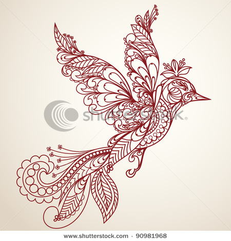 stock-vector-beautiful-bird-in-a-vintage-style-hand-drawn-illustration-90981968 (450x470, 95Kb)
