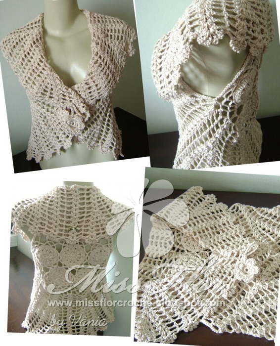 болеро. схемы вязания