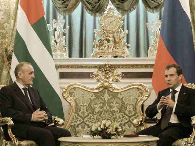 встреча Александра Анкваба с Президентом России Дмитрием Медведевым в Кремле 6 октября 2011