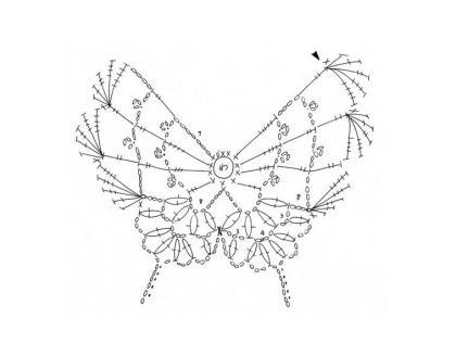Схема вязанию бабочки.