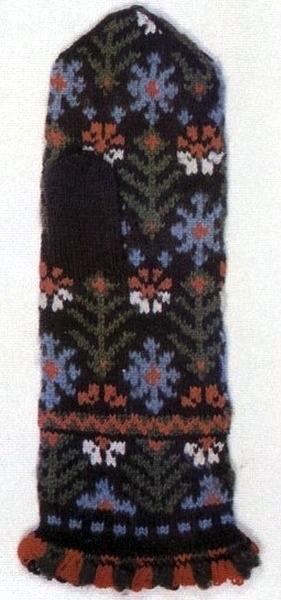 Латышские мужские варежки