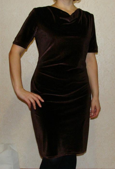 Бархатное платье сшить 11