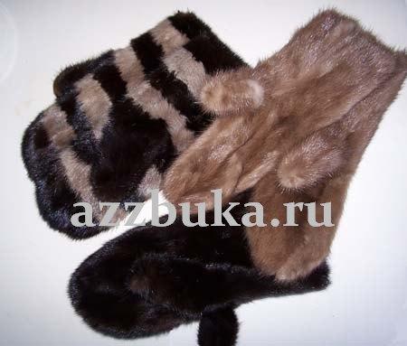 Описание: выкройка меховых рукавиц, Выкройка.