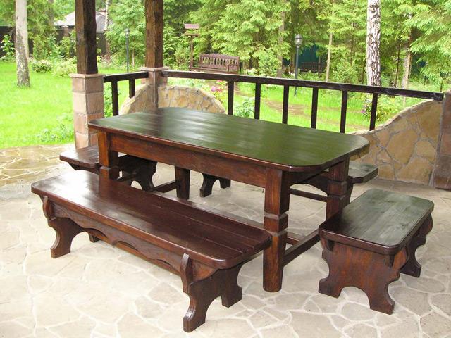 Фото мебель для беседки