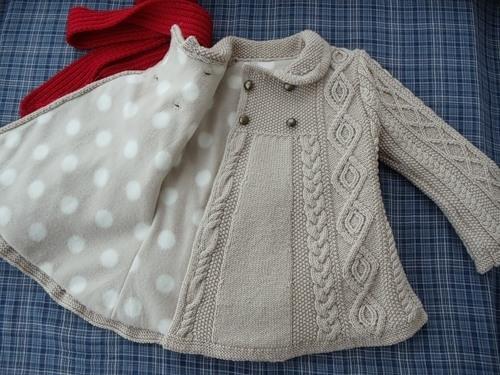 Вязаные пальто для детей (28 фото ) /