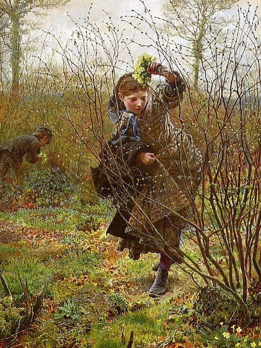 1865 Frederick Walker (English Social Realist, 1840-75) - Spring (526x700, 421Kb)