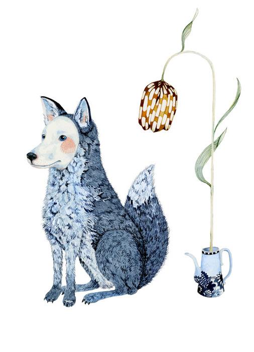 Page winter fox (506x700, 78Kb)