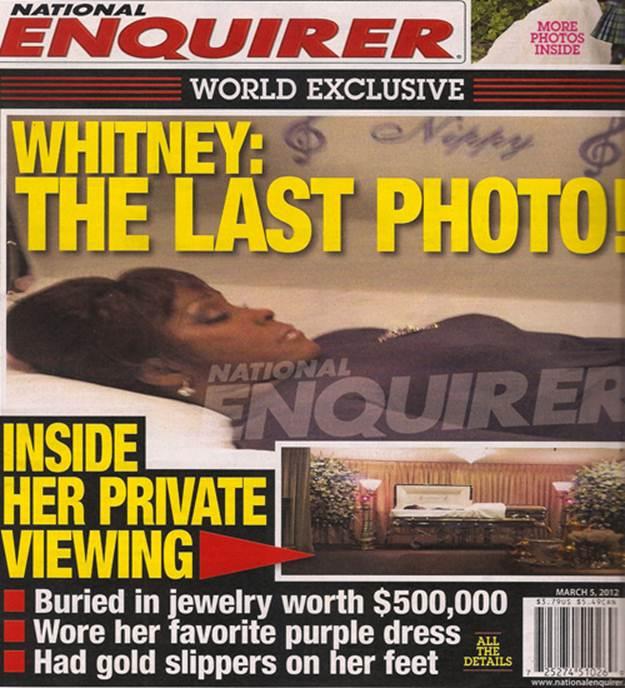 Фотографии Уитни Хьюстон в гробу выкрали и опубликовали в журнале National Enquirer