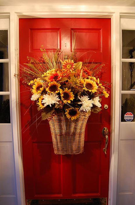 декор на входной двери