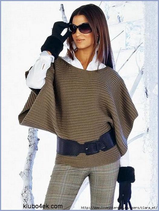 Вязаные теплые женские свитера