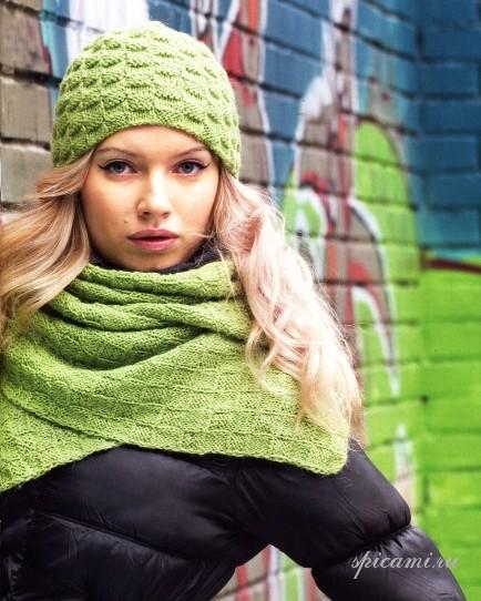 Вязаные шарфы и шапки 2012.
