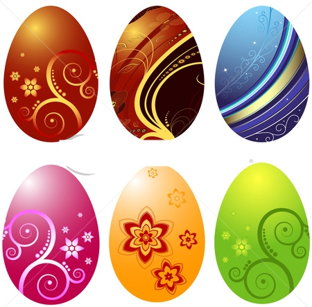 ПАСХАЛЬНЫЕ ЯЙЦА 83994964_stockphotoeasterseggsisolatedonwhitebackground66550966