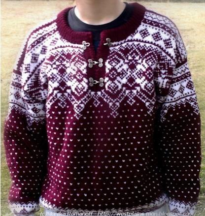 Норвежский свитер ,связан в