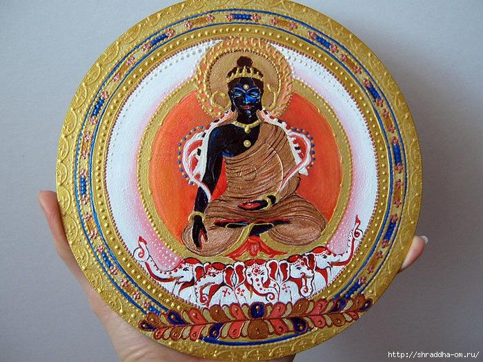 Buddha Akshobhaya, роспись акрилом, автор Shraddha, 3 (700x525, 384Kb)