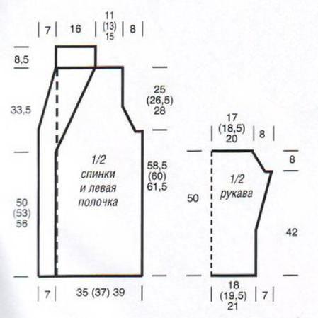 рукоделие выкройка кардигана (449x449, 23Kb)
