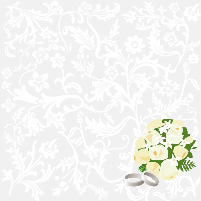 Скрап бумага свадебная